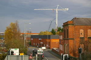 Crane viewed from Lidl car park